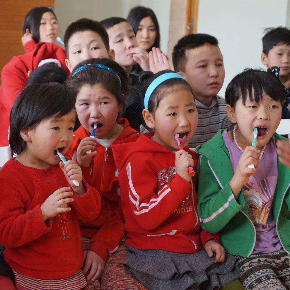 Die von der Misheel Kids Foundation behandelten Kinder haben auf anderem Wege keinen Zugang zu Zahnbehandlung oder Unterweisung in Mundhygiene und Ernährung.